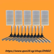 Applicable for Proscenic 790T Alpaca Plus Vacuum Cleaner Parts 5pcs HEPA Filter+10pcs Side Brush