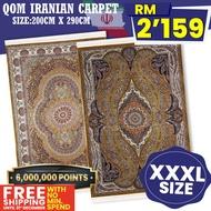 QOM IRANIAN HAND MADE CARPET [200CM X 290CM] �� / DIPERBUAT DARIPADA IRAN �� / EXCLUSIVE RUGS / THICKNESS 20MM / KARPET