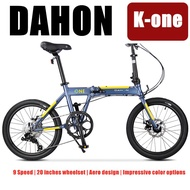 Dahon  K-one folding bike foldable bike for adult and kids| Alloy framesey | disc break |Dahan 9 Speed |solid wheelset.