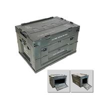 SOF 軍風折疊側開收納箱 露營 收納 軍綠 2005250642
