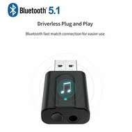 USB Bluetooth Transmitter Receiver 2 in 1 Bluetooth 5.0 Transmitter & Receiver Wireless 3.5mm Aux Ad
