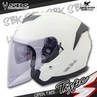 SBK安全帽 TYPE-S 珍珠白 素色 內置墨鏡 內鏡 內襯可拆 半罩安全帽 3/4罩 耀瑪騎士機車部品