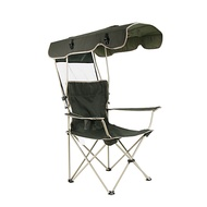 Camping Chair with Cup Holder Portable Anti-Slip Foldable Comfortable Steel Tube Oxford for 1 person Camping Camping / Hiking / Caving Traveling Picnic Autumn / Fall Spring Dark Green