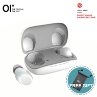 OI Teno SIX True Wireless Earbuds Bluetooth Headphones Earphones Headset Red Dot Design Award 8H Playback Fast Charging One-Step Pairing Touch Control with Volume Control Noise Cancellation Deep Bass with Microphone-Black&White