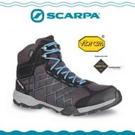 【SCARPA 義大利 HYDROGEN HIKE GTX登山鞋《深灰/湖水藍》】63335-200/防水透氣/黃金底/建行鞋
