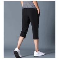 【cw】for กางเกงขาสั้นผู้ชาย แบบ7ส่วน  เอวยางยืด กางเกงออกกําลังกาย กางเกงวิ่ง