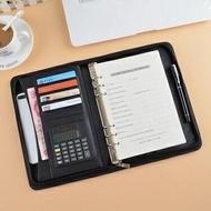 多功能經理夾 拉鏈包A5筆記本文具 6孔活頁記事本萬用手冊 銷售夾