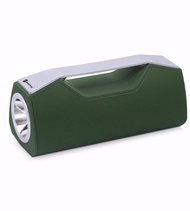 BLUETOOTH V5.0 PORTABLE SPEAKER LED FLASH LIGHT TORCH USB AUX – GREEN