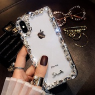 Case Apple ไอโฟน เคส IPhone เคสไอโฟน ใสขอบเพชร สำหรับ ไอโฟน IPhone I6 / 6s / 6Plus / 6sPlus 7 / 8 / 7Plus / 8Plus / X-Xs / XR / XsMax / 11 / 11Pro / 11ProMax
