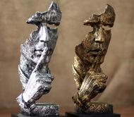 擺件 簡約現代創意沉默是金工藝品擺件北歐雕塑辦公室客廳藝術品裝飾品   mks   瑪麗蘇