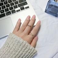 【韓風巷】 簡樸風 交叉戒指 金色 銀色 蝦皮拍賣