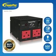 PowerPac 500W Heavy Duty Step Up & Down Voltage Converter Transformer 110V / 220V Voltage Regulator (ST500)
