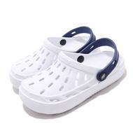 Skechers 休閒鞋 Swifters 洞洞鞋 涼拖鞋 童鞋 下雨必備 好穿脫 海邊 透氣 中大童 白 藍 400064LWHT