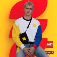 【LEVIS】X LEGO 男款 重磅大學T /寬鬆休閒版型 /樂高積木通用軟墊 /附限定版積木 /樂高色塊拼接-人氣新品