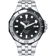 【EDOX 伊度】Delfin 水上冠軍專業300 防水機械錶-黑/43mm(E80110.357NM.NIN)