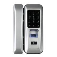 Single Open Door Fingerprint Lock Fingerprint & Touchscreen Smart Lock Digital Glass Door Lock Electronic Keyless Touch-screen Door Lock Fingerprint Lock for Glass Door