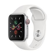 【直降 送行動電源】Apple Watch Series 5 GPS + LTE 版 40mm 銀色鋁金屬錶殼配白色運動錶帶 (MWX12TA/A)