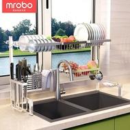 304不銹鋼水槽瀝水架廚房置物架放碗碟架落地收納架碗筷廚房用品  YTL