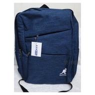 英國品牌 KANGOL精品【旅行背包 (藍色)】全新 仿牛仔 後背包 雙肩背 電腦包 袋鼠 丹寧