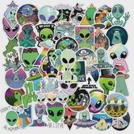 10/30/50PCS ใหม่ Alien การ์ตูน Graffiti ของเล่นเด็กกระเป๋าเดินทางแล็ปท็อปหมวกกันน็อกกันน้ำโดยไม่ทิ้งกาวสต...