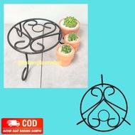 Tatakan Pot Bunga Tanaman Hias Rak Besi Bulat 25 CM / Standing Planter T10 D25