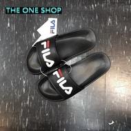 FILA 拖鞋 運動拖鞋 海灘鞋 黑色 電繡 經典款 LOGO