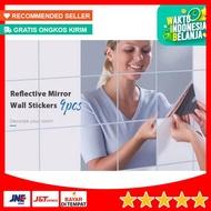 Wall Stickers Glass Mirror Mirror Wall Sticker Wallpaper 9pcs
