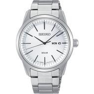 SEIKO 精工 V158-0BE0S(SNE523P1) 質感簡約太陽能時尚腕錶-白/40mm