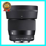 Sigma Lens For Sony E-Mount 56mm F/1.4 DC DN (C) (ประกัน EC-Mall) เลือก 1 ชิ้น อุปกรณ์ถ่ายภาพ กล้อง Battery ถ่าน Filters สายคล้องกล้อง Flash แบตเตอรี่ ซูม แฟลช ขาตั้ง ปรับแสง เก็บข้อมูล Memory card เลนส์ ฟิลเตอร์ Filters Flash กระเป๋า ฟิล์ม เดินทาง