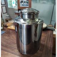 三斤 不鏽鋼 白鐵桶 白鐵罐 茶倉 茶罐 藏茶 收納