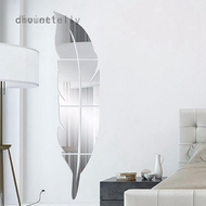 Feather Mirror Wall Sticker 3D Acrylic Mirror Sticker Fitting Mirror