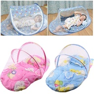 Foldable Baby Cotton Padded Mattress Pillow Bed Mosquito Net Tent