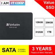 """Verbatim Vi550 S3 SATA III 2.5"""" Solid State Drive ( 128GB / 256GB / 512GB / 1TB ) - Laptop SSD"""