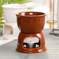 IVY Fondue Pot Set,Chocolate Fondue Pot Cheese Porcelain Melting Pots Porcelain Melting Pot For Tapas And Cheese, Chocolate fondue pot