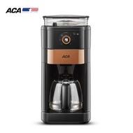 ACA กาแฟเครื่องชงกาแฟอัตโนมัติบดผงกาแฟถั่วมัลติฟังก์ชั่นอเมริกันเครื่องทำกาแฟดริป