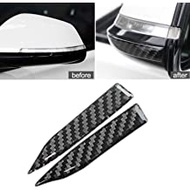 Xotic Tech Carbon Fiber Universal Auto Rear View Mirror Anti-Scratch Door Side Edge Protection Guard Anti Trim Sticker Guard Strip Protector Trim for Cars SUV Pickup Truck