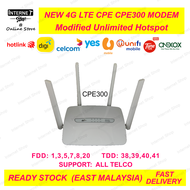 4G LTE MODEM CPE300 C300 S800 rs960 + MODIFIED/UNLIMITED/HOTSPOT ROUTER OEM aka cp101 cp108 rs960 rs860 rs980 B310 B315 B525