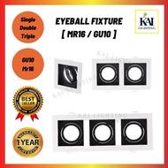 LED Eyeball Fitting/Casing Black/White Downlight Casing