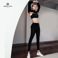 molyvivi魔力薇薇夜光魔力褲升級款2代女黑色運動顯瘦腿褲打底褲