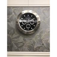【現貨】勞力士ROLEX 廣告展示鐘 超靜音滑動式機芯 夜光全不鏽鋼蠔式時鐘 掛鐘 玫瑰金遊艇系列 水鬼