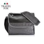 【TRAVEL FOX 旅狐】簡約商務鑽紋公事包/側背包(TB599-13 灰色)