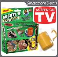 MIGHTY PUTTY SEAL GLUE KNEADABLE TWO PART EPOXY DIY REPAIR 3 TUBE PACK WITH GLOVES INCLUDED HL3