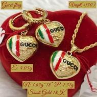 necklace saudi gold 18k