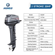 HIDEA HD20F 2 Cylinder 20hp 2 Stroke Manual/remote control Electric start Outboard Motor Outboard Engine