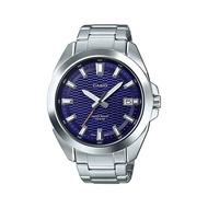 นาฬิกาผู้หญิง ผู้ชาย ของแท้100% มีใบประกัน (รับประกัน1ปี) นาฬิกาข้อมือผญ ผช ทนทาน กันน้ำได้ (จัดส่งฟรี) นาฬิกาแบรนด์ รุ่นใหม่ล่าสุด Casio Standard นาฬิกาข้อมือผู้ชาย สายสแตนเลส รุ่น MTP-E400D-2AVDF ราคาพิเศษ ยี่ห้อที่ดีที่สุด มีเก็บเงินปลายทาง