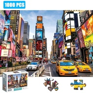 Puzzle 1000 PCS Jigsaw Puzzles for Kids Adult - Time Square Jigsaw Puzzle,Educational Intellectual Decompressing Fun Game