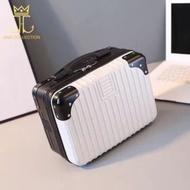 กล่องเก็บเครื่องสำอาง กระเป๋าเก็บเครื่องสำอาง กระเป๋าเดินทางพกพา 14 นิ้ว  กระเป๋า ABS  ระเป๋าเครื่องสำอางเดินทาง มี 6 ส