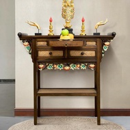 EasyHome Buddhist Altar Table Home Buddhist Altar Porch Porch Table God Of Wealth Enshrined Cabinet Buddha Statue Enshrine Table Thailand Carved Porch Cabinet