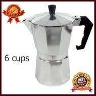 Moka pot กาต้มกาแฟสดขนาด 6 cup หรือ 300 ml อุปกรณ์ทำกาแฟ ทำกาแฟ เครื่องชงกาแฟ กาแฟคั่วบด กาแฟสด