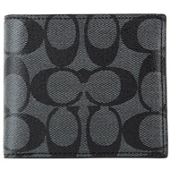 Coach Men Wallet Model F75083 - Compact ID Wallet in Signature Coated Canvas